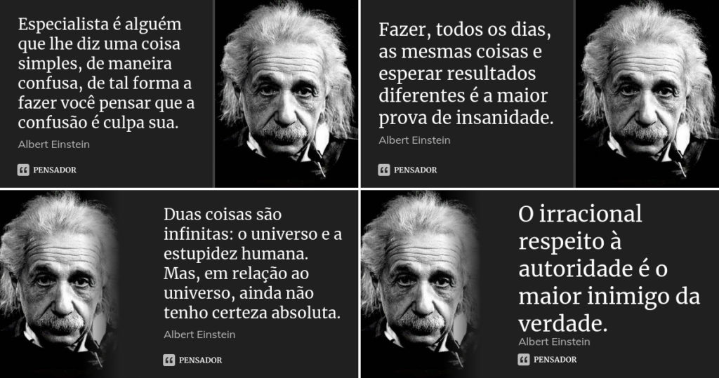 Pensamentos do Albert Einstein